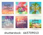 summer holidays and vacation... | Shutterstock .eps vector #665709013