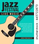 jazz festival music background... | Shutterstock . vector #665722873