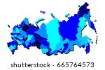 russia  map outline in shades... | Shutterstock .eps vector #665764573