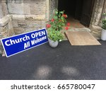 Open Door To A Church With A...