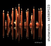 Candles Burning  Melting ...