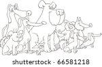 illustration of sitting dogs... | Shutterstock . vector #66581218