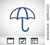 umbrella vector icon. rain... | Shutterstock .eps vector #665812213