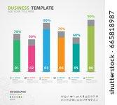 infographics elements diagram... | Shutterstock .eps vector #665818987