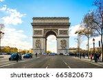 paris  france   april 10  2016  ...   Shutterstock . vector #665820673