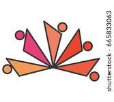 teamwork symbol silhouette icon | Shutterstock .eps vector #665833063