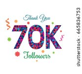 thank you design template for... | Shutterstock .eps vector #665836753