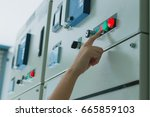 women engineer working on... | Shutterstock . vector #665859103