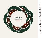 wave logo abstract design.... | Shutterstock .eps vector #665873047