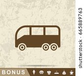 bus sign icon | Shutterstock .eps vector #665889763