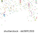 colorful celebration background ... | Shutterstock .eps vector #665891503
