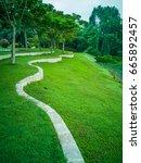 landscape of recreation park  | Shutterstock . vector #665892457
