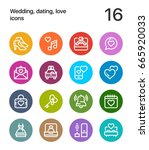 colorful wedding  dating  love... | Shutterstock .eps vector #665920033