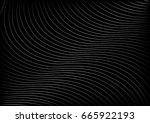 wavy line pattern on black... | Shutterstock .eps vector #665922193