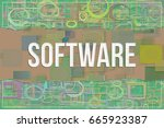 software  information... | Shutterstock . vector #665923387