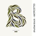 logo design from petals  leaves ... | Shutterstock .eps vector #665923753