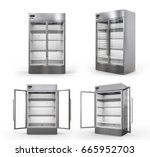 3d rendering stainless steel... | Shutterstock . vector #665952703