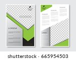 template design brochure set ... | Shutterstock .eps vector #665954503