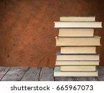 old books | Shutterstock . vector #665967073