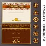 set of elegant templates of... | Shutterstock .eps vector #665984323
