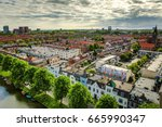 utrecht city from top. general... | Shutterstock . vector #665990347