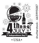 us independence day design.... | Shutterstock .eps vector #665995087