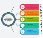 modern infographic paper... | Shutterstock .eps vector #666011593