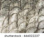 troweled crescent pattern...   Shutterstock . vector #666022237