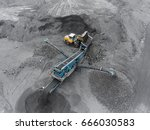 open pit mine  breed sorting ... | Shutterstock . vector #666030583