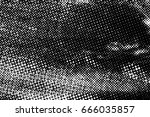 grunge black and white circle... | Shutterstock . vector #666035857