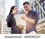woman real estate agent deal... | Shutterstock . vector #666046237
