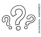 three question mark   cartoon... | Shutterstock .eps vector #666048853