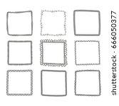 hand drawn frames set. cartoon...   Shutterstock .eps vector #666050377