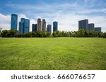 park  grassland in city   Shutterstock . vector #666076657
