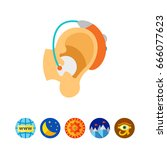 hearing aid icon | Shutterstock .eps vector #666077623