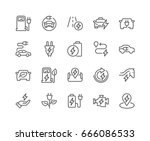 simple set of electro car... | Shutterstock .eps vector #666086533