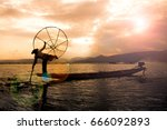 Fishermen In Inle Lake At...