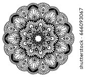 mandalas for coloring book.... | Shutterstock .eps vector #666093067