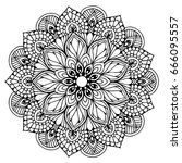 mandalas for coloring book.... | Shutterstock .eps vector #666095557