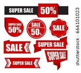 label super sale 50 .   Shutterstock .eps vector #666101023