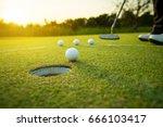 golfer practice training... | Shutterstock . vector #666103417