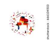 music instrument background.... | Shutterstock .eps vector #666104503