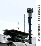 Small photo of Air defense missile system close up