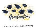 vector illustration of graduate ... | Shutterstock .eps vector #666107677