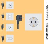 electric outlet vector... | Shutterstock .eps vector #666118207