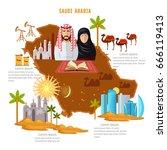 saudi arabia infographics.... | Shutterstock .eps vector #666119413