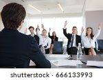 speaker at business conference... | Shutterstock . vector #666133993