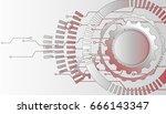 mechanism  abstract vector... | Shutterstock .eps vector #666143347