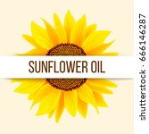 sunflower and text | Shutterstock .eps vector #666146287