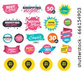 sale shopping banners. sale... | Shutterstock .eps vector #666154903